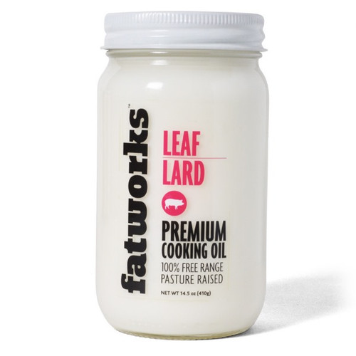 Pure pastured leaf lard.