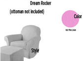 Pottery Barn Kids Dream Rocker Slipcover Set - Hot Pink Linen