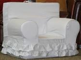 Regular Size Double Ruffle Chair - Light Pink