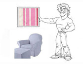 Pottery Barn Kids Dream Rocker Slipcover Set - Pink Stripe
