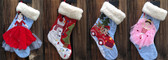 Quilted Christmas Stockings - Soft Sherpa Top