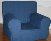 Ugly-Where Chair Slipcover - Regular Size - Free Personalization - Denim