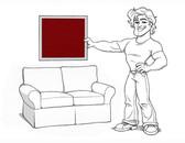 Pottery Barn Basic Loveseat Slipcover Set - Wine Red Linen - locstg