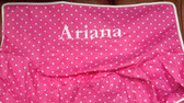 Premonogrammed Regular Size Ugly-Where Chair - Ariana - L11 - Hot Pink Pin Dot
