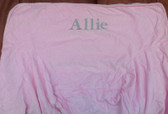 Premonogrammed Regular Size Ugly-Where Chair - Allie - L50 - Light Pink Velvet