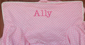 Premonogrammed Regular Size Ugly-Where Chair - Ally - LM52 - Light Pink Mini Dot