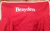 Premonogrammed Regular Size Ugly-Where Chair - Brayden -  LM63 - Red, White Piping