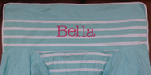 Premonogrammed Regular Size Ugly-Where Chair - Bella -  L87 - Aqua Breton Stripe