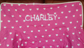 Premonogrammed Regular Size Ugly-Where Chair - Charley -  L121 - Hot Pink Hearts