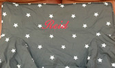 Premonogrammed Regular Size Ugly-Where Chair - Reid -  L143 - Charcoal glow in the dark Stars
