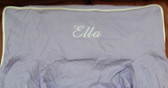 Premonogrammed Regular Size Ugly-Where Chair - Ella - L283 - Lavender, White Piping