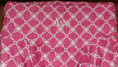 Premonogrammed Regular Size Ugly-Where Chair - Ava - L409 - Hot Pink Lattice Linen