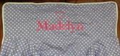 Premonogrammed Regular Size Ugly-Where Chair - Madelyn - LM357 - Lavender Mini Dot