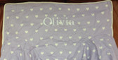 Premonogrammed Regular Size Ugly-Where Chair - Olivia - L600 - Lavender Hearts
