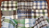 Premonogrammed Regular Size Ugly-Where Chair - Benjamin -  L560 - Blue/Gray/Brown Madras