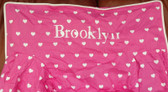 Premonogrammed Regular Size Ugly-Where Chair - Brooklyn -  L548 - Hot Pink Hearts