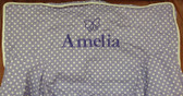 Premonogrammed Regular Size Ugly-Where Chair - Amelia -  LM544 - Lavender Mini Dot