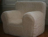 Ugly-Where Chair Slipcover - Regular Size - Free Personalization - Ivory Sherpa