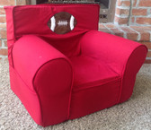 Ugly-Where Chair  - Regular Size - Free Personalization - Red Football Applique