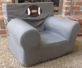Ugly-Where Chair Slipcover - Regular Size - Free Personalization - Gray Football Applique