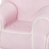 Ugly-Where Chair Slipcover - Regular Size - Free Personalization - Pink Suede, Sherpa Trim
