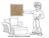 Pottery Barn Charleston Chair and 1/2 Slipcover Set - Sand Velvet - locstg