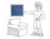 Pottery Barn Basic Arm Chair Slipcover Set - Denim - locstg