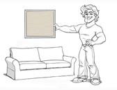 Pottery Barn Comfort Sofa Slipcover Set - Box Edge Cushions - Stone Brushed Canvas - locstg