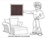 Pottery Barn Charleston Chair and 1/2 Slipcover Set - Dark Purple Velvet - locstg