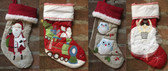 Quilted Christmas Stockings - Free Personalization
