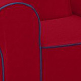 Ugly-Where Chair  - Regular Size - Free Personalization - Free Shipping - Red/Navy Piping