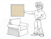 Pottery Barn Basic Arm Chair Slipcover Set - Honey Eco-Canvas - L107