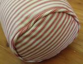 Pottery Barn Bolster Pillow set of 2 - Red Ticking Stripe