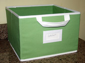 Canvas Storage Box - Light Green