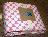 Fabric by the Yard - 5 yards x 1.5 yards - Pink Hearts - Free Shipping