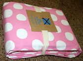 Fabric by the Yard - 5 yards x 1.5 yards - Pink Painted Dot - Free Shipping
