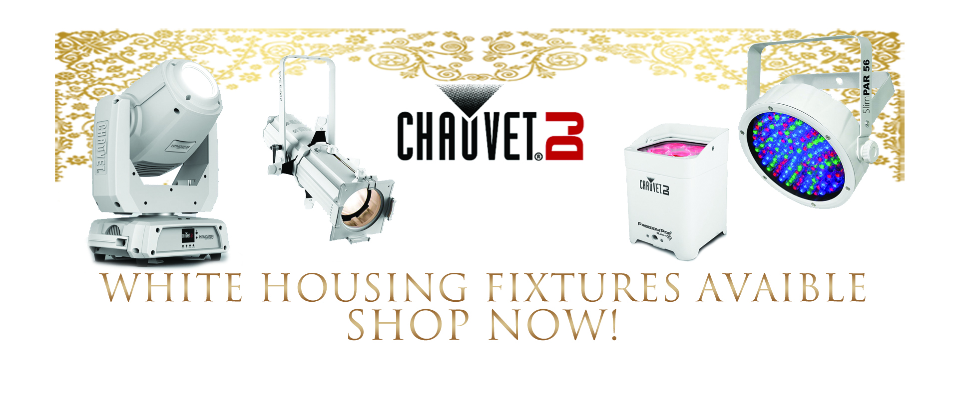 ChauvetDJ White Housing Fixtures now available!