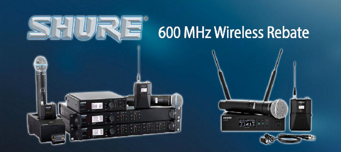 Shure 600 MHz Rebate 2017