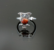 Nine50 Handmade Silver Owl Ring