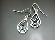 Nine50 Spiral Drop Earrings