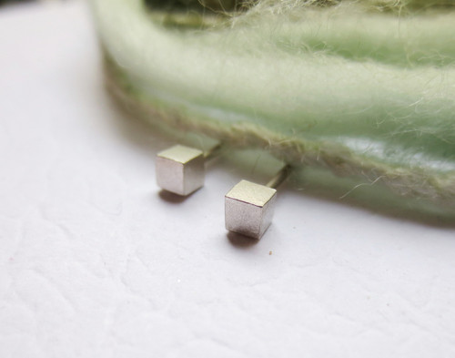 Nine50 Malmo Silver Stud Earrings