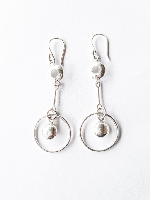 Nine50 Peruvian 950 Silver Earrings