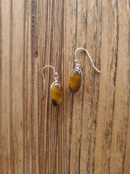 Tigers Eye Small Drop Earrings