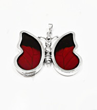 Large Butterfly Pendant ~ Red