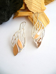 "New! Copper Accent ""Flame"" Earrings"
