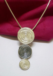 New! Swirls Necklace