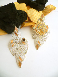 Fire Inspired Silver Earrings