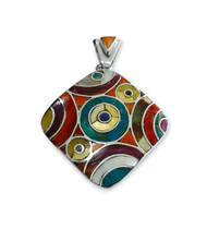 "Shell and Stone ""Geo"" Pendant"