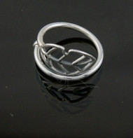 Nine50 Silver Coca Leaf ring