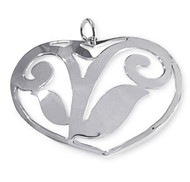 Large Ornate Cutout Heart Pendant